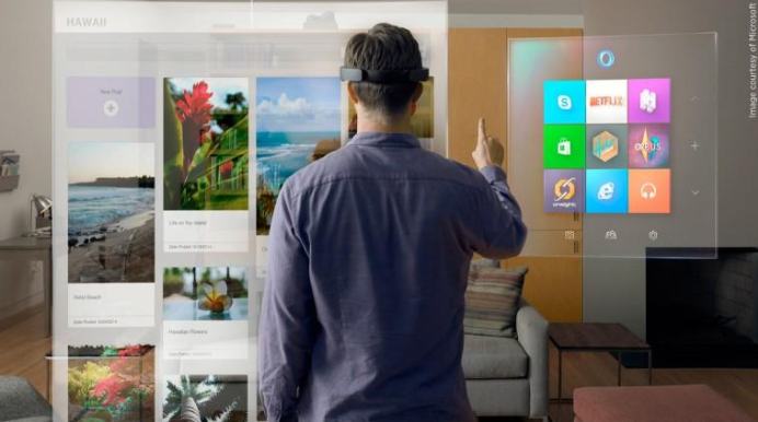Microsoft augmented reality example